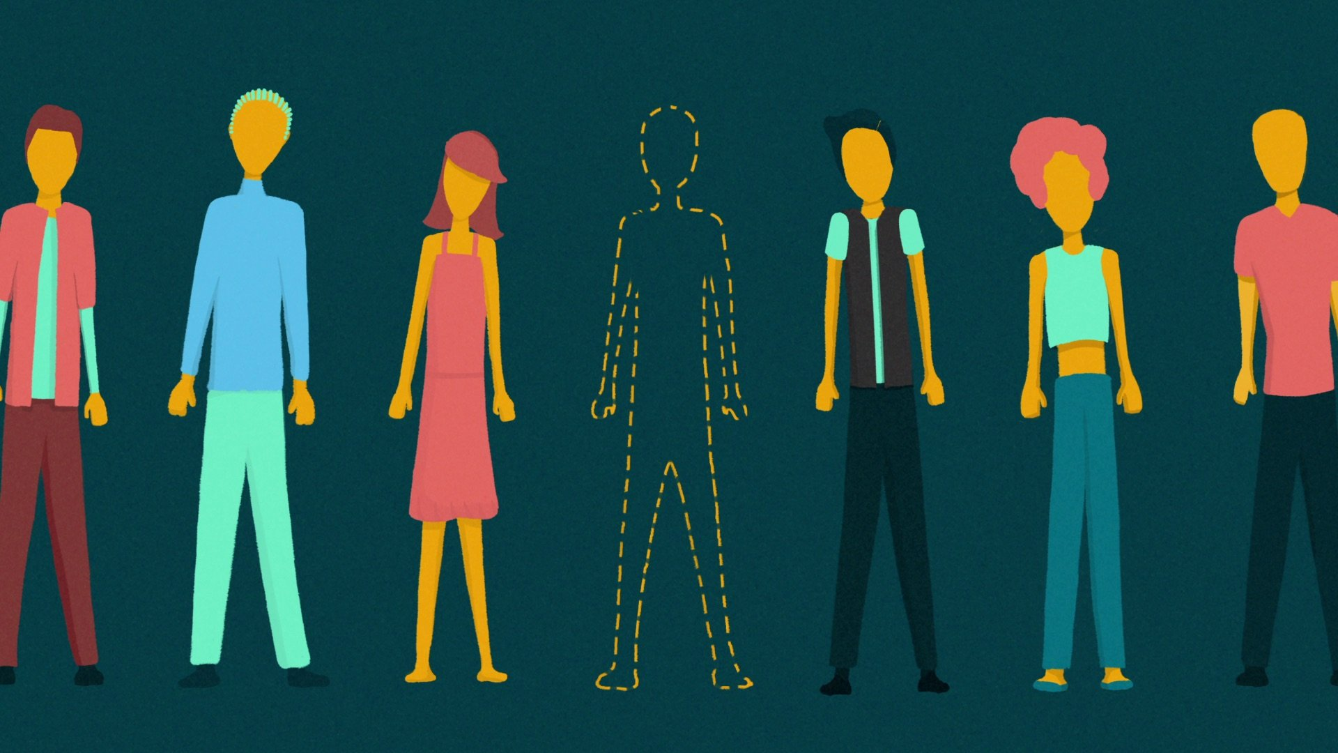 illustration for an explainer video animation for the Incidee app. It shows lots of people