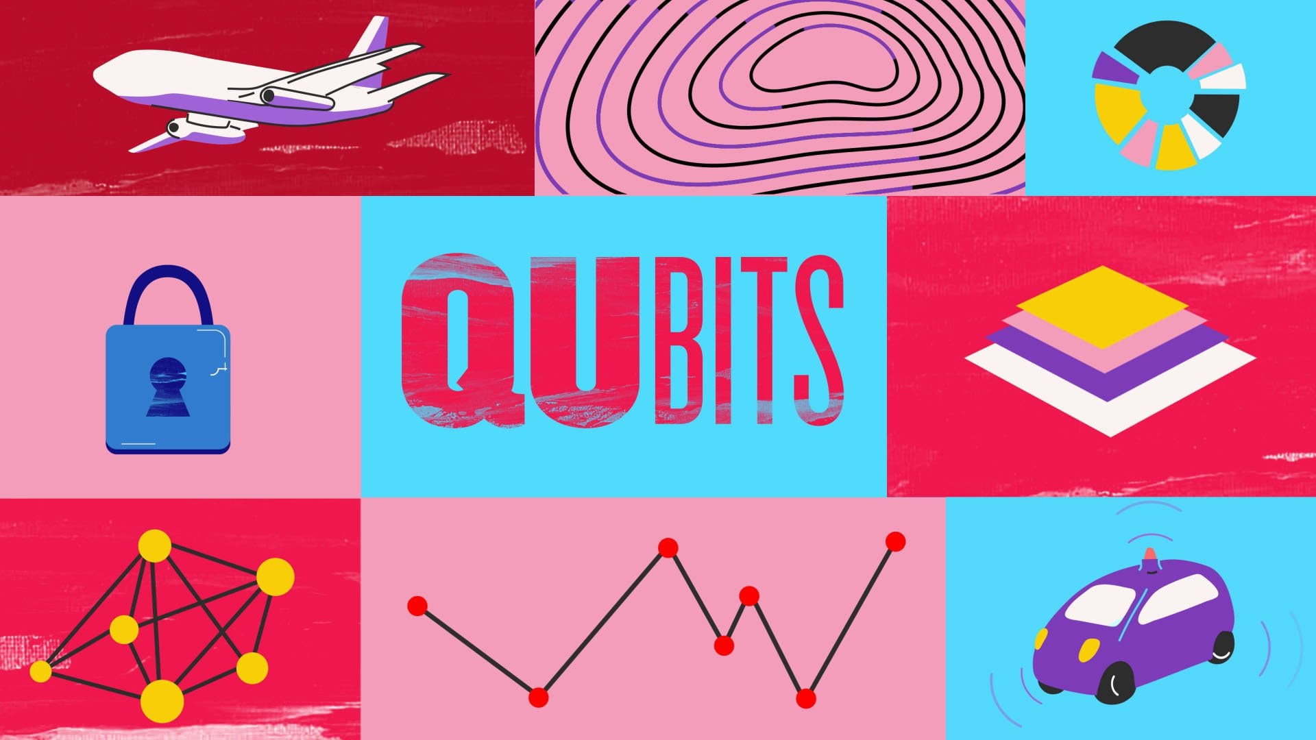 thumbnail of the Quantum animation, talking about qubits