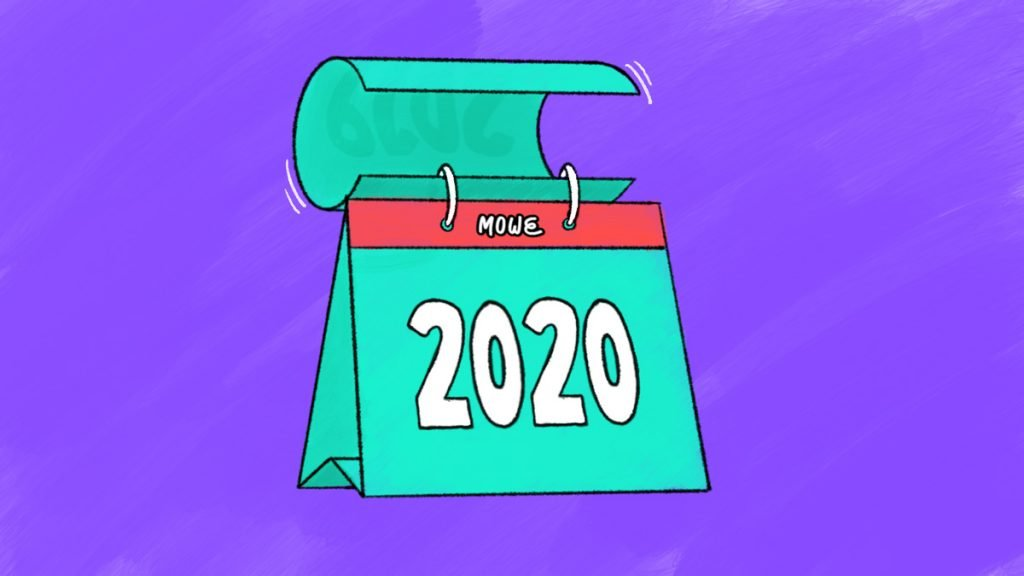 Header for an article about animated content showing a calendar showing the year of 2020
