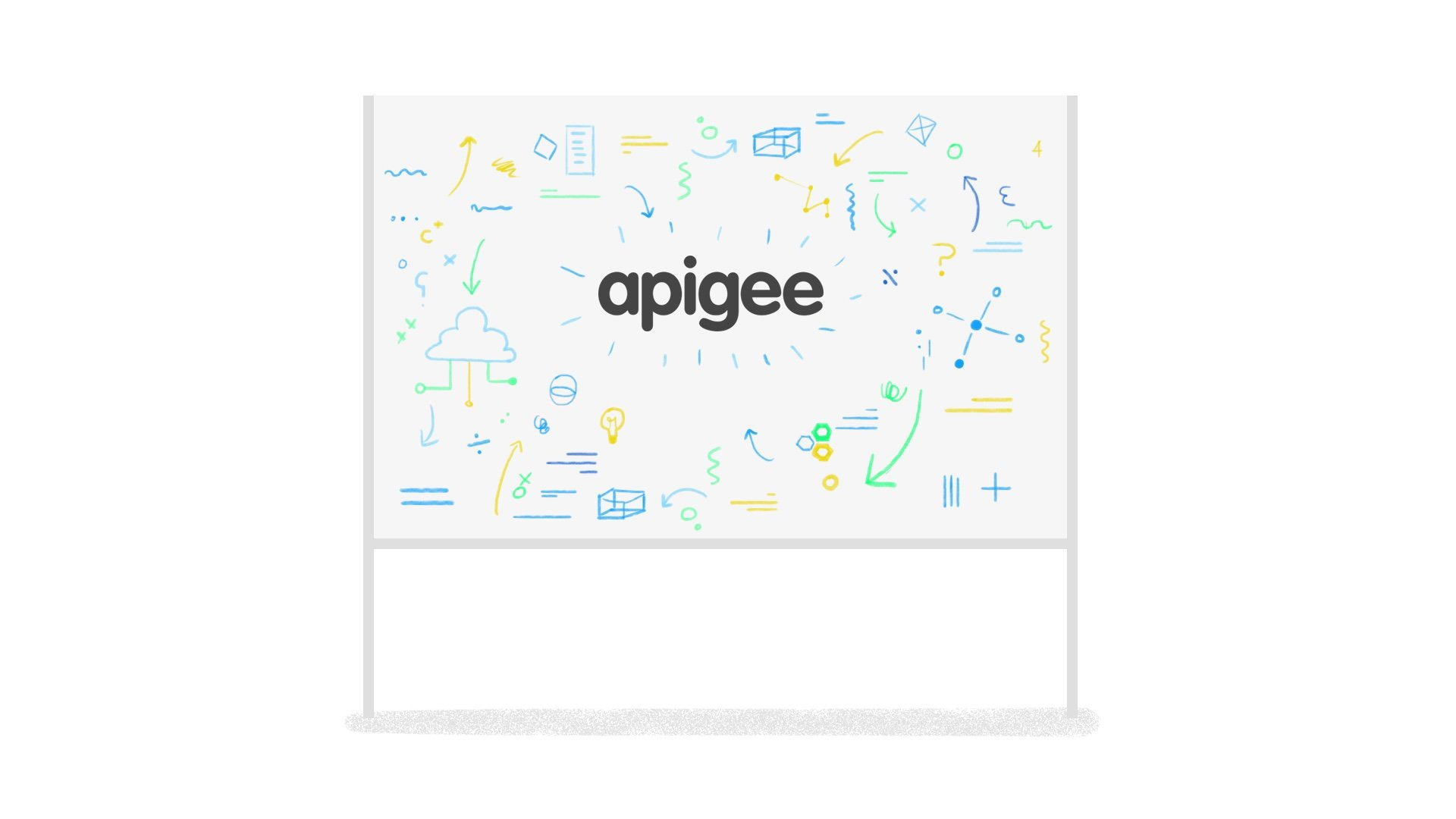 illustration for an animation showing the apigee logo