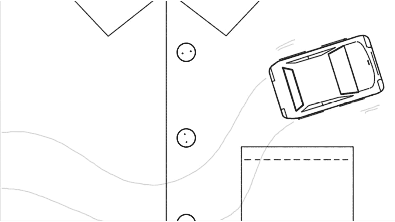 sketch for a series of Geico's explainers videos. It shows a car