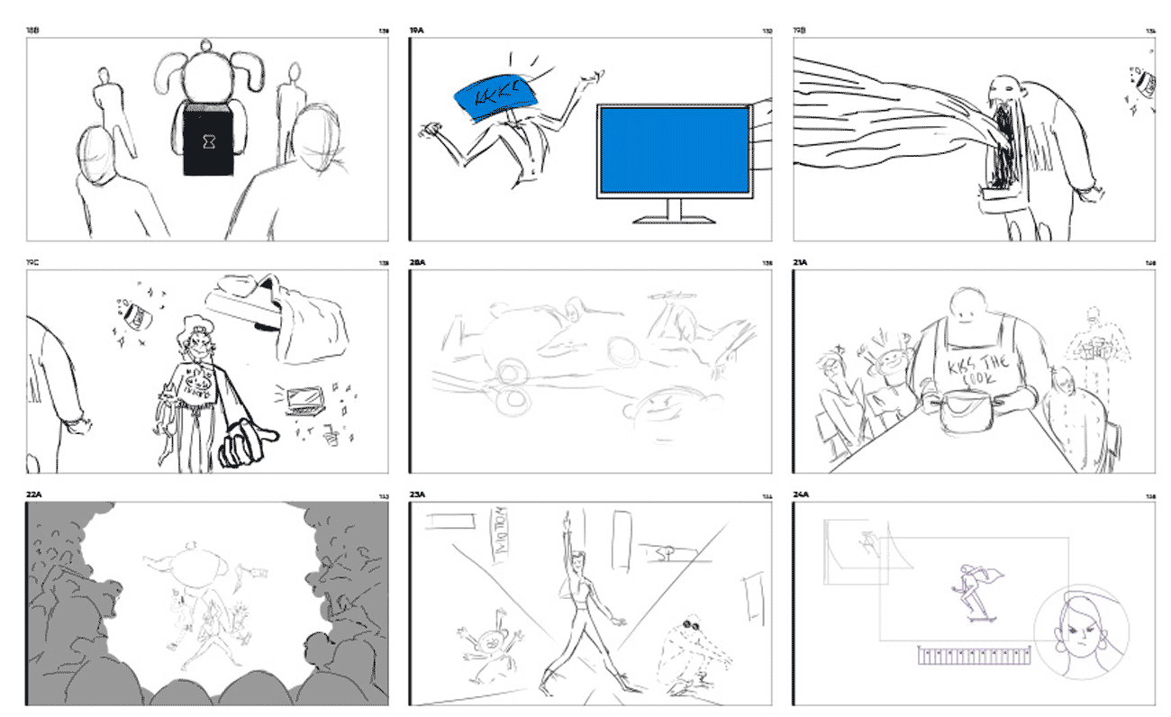 Anymotion Opening Title Video storyboard