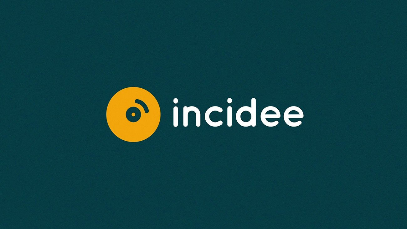 illustration for an explainer video animation for the Incidee app. It shows Incidee's logo