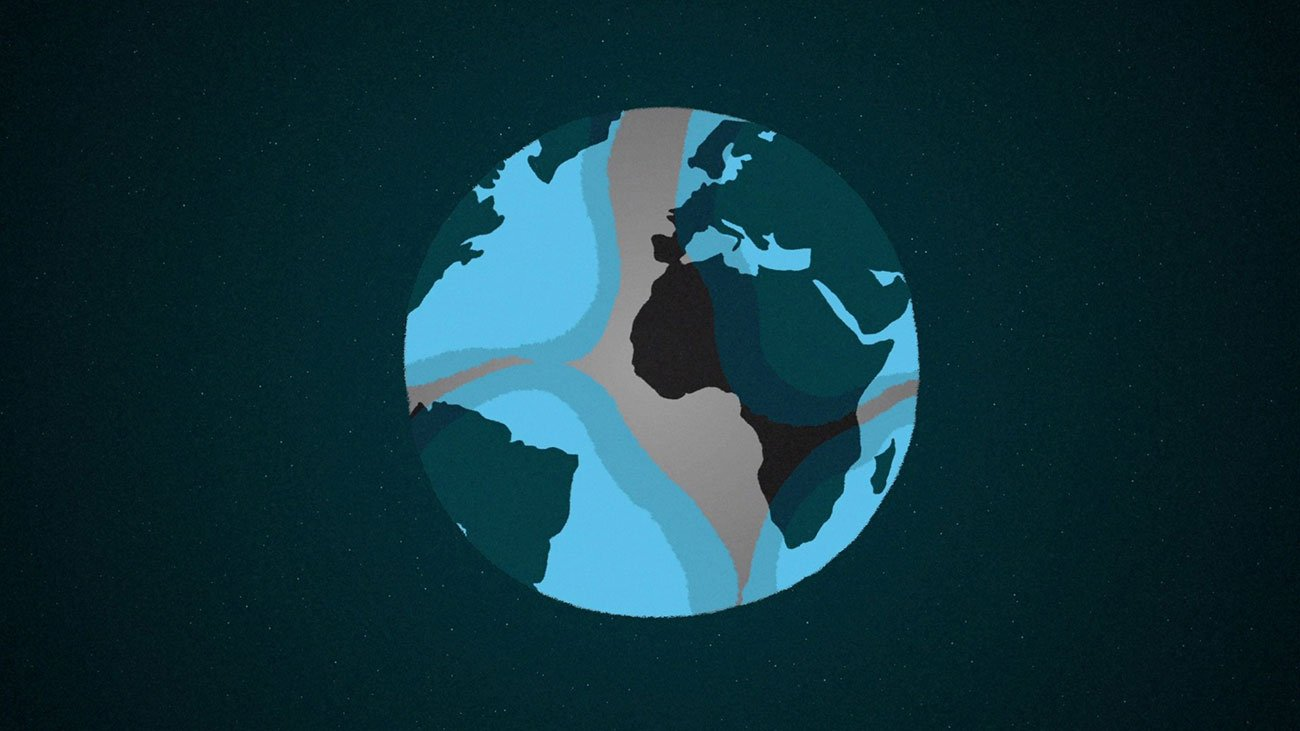 illustration for an explainer video animation for the Incidee app. It shows the world